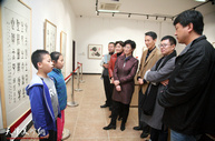 喜迎十九大 共筑中国梦—当代书画名家邀请展在天津荣宝斋开幕