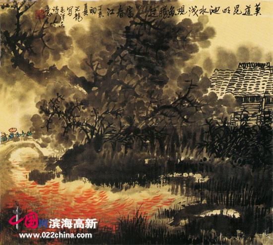 天津著名画家陈元龙做客中国网・滨海高新