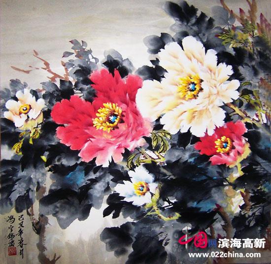 """天津""""冯牡丹""""冯字锦作品:《露华浓》"""