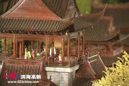 李岳林微雕:大观园