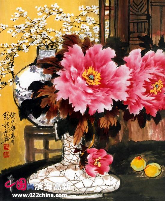"""天津著名国画家""""牡丹张""""张锡武作品"""