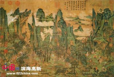 唐人《明皇幸蜀图》轴