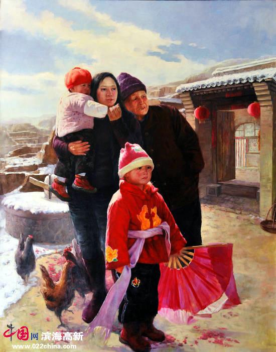 刘永吉作品:《锣鼓声声》油画