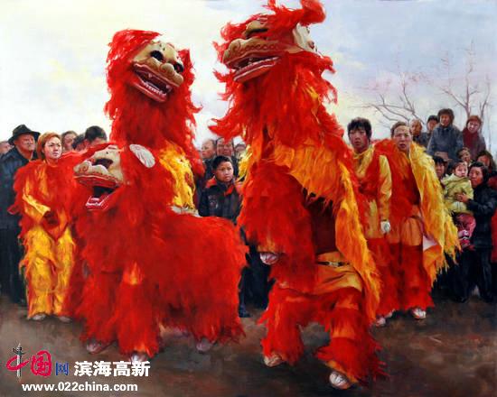 刘永吉作品:《红红火火》油画