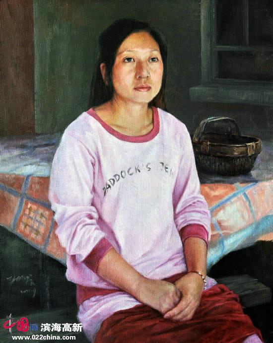 刘永吉作品:《农家少妇》油画