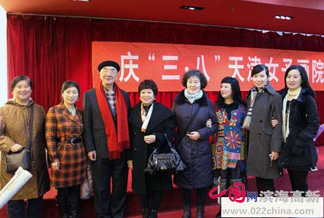 天津市老同志陆焕生、曹秀荣、美协办公室主任杨建国等出席了开幕式。