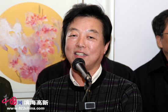天津美协办公室主任杨建国致辞
