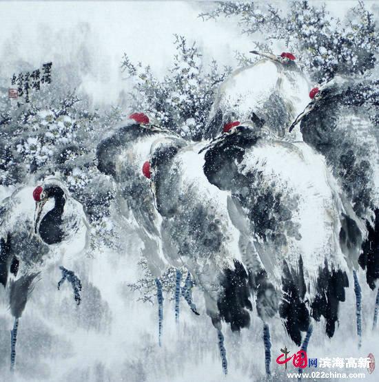 邓作列作品:雪满�t湘