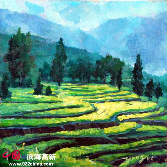 刘永吉作品《油菜花》