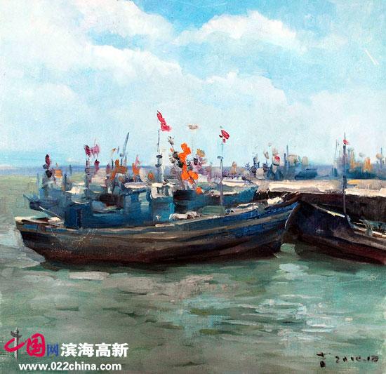 刘永吉作品《渔港》