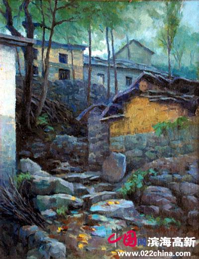 因为住的都是远离城镇的小村庄,出去画风景写生时,挨饿是经常的,有时