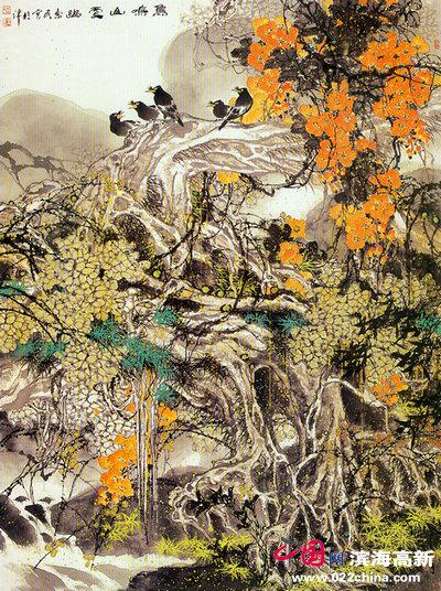 王惠民作品:鸟鸣山更幽