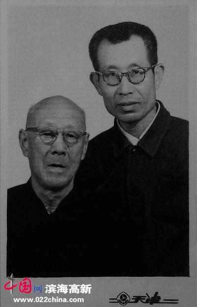 张牧石先生与张伯驹先生合影。