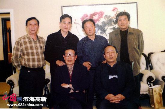 张牧石先生与天津书画家唐云来、王正升、韩嘉祥、况瑞峰、张运河