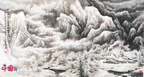著名画家李学亮山水画作品