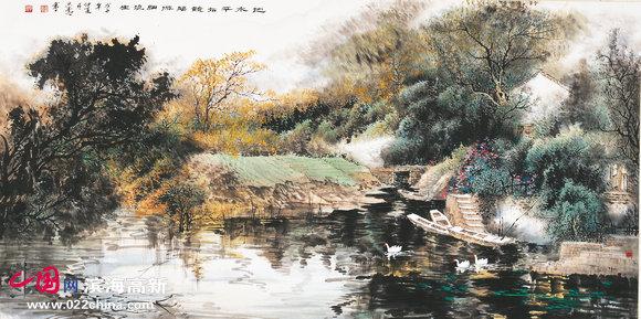 冰雪山水画是李学亮成为职业画家后图片