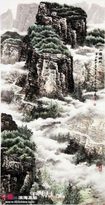 著名画家李学亮山水画作品。