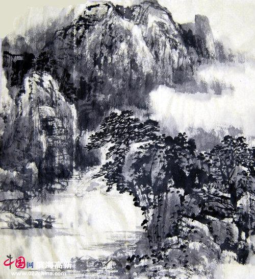 天津著名画家古蜀道写生墨稿
