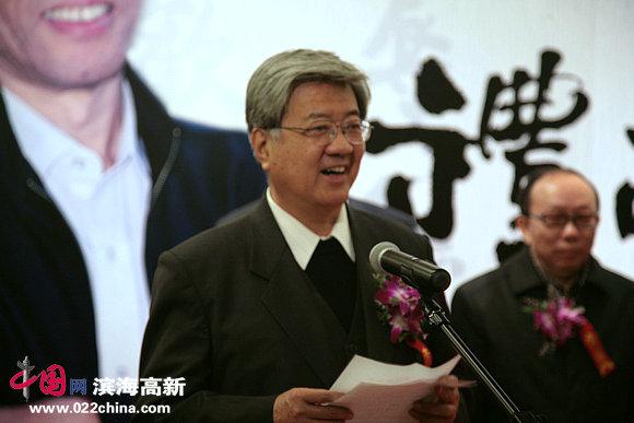 天津市书法家协会副主席曹柏崑致词。