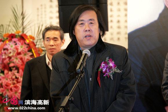 天津市书法家协会副主席邵佩英致词。
