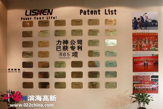 力神电池公司已获专利665项。