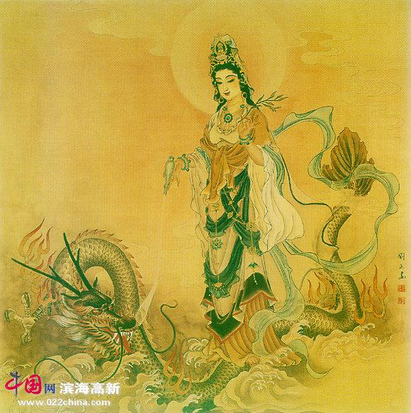 刘正工笔画:《观世音菩萨》