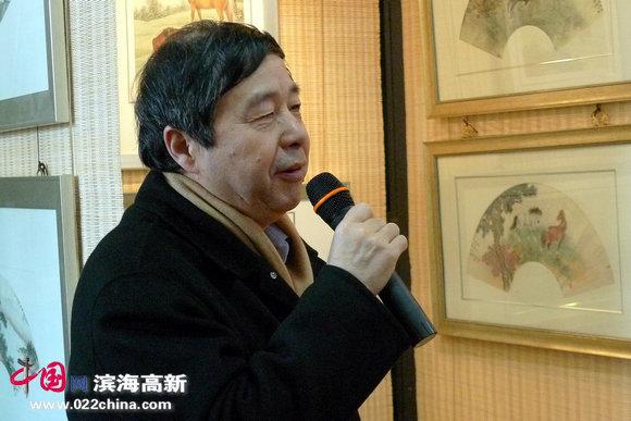 参展画家爱新觉罗·毓峋致词。