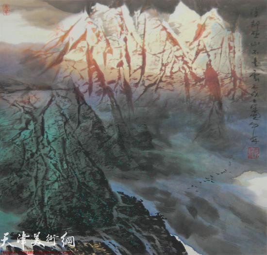 蜀山嘉陵画派创始人向中林作品:除却巫山不是云