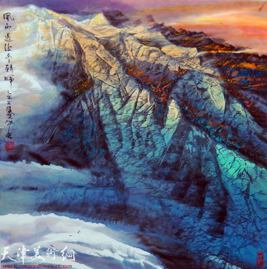 蜀山嘉陵画派创始人向中林作品:风雨过后尽朝晖