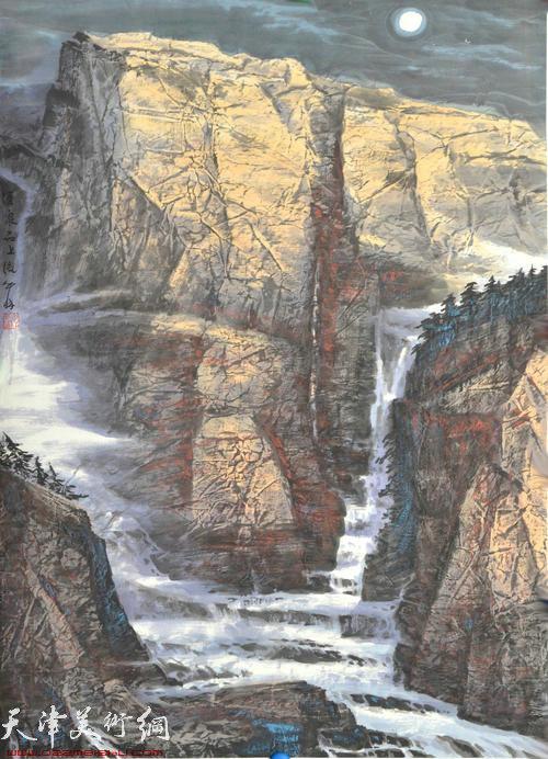 蜀山嘉陵画派创始人向中林作品:清泉石上流