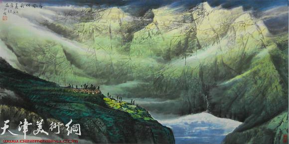 蜀山嘉陵画派创始人向中林作品:春风化雨春常在