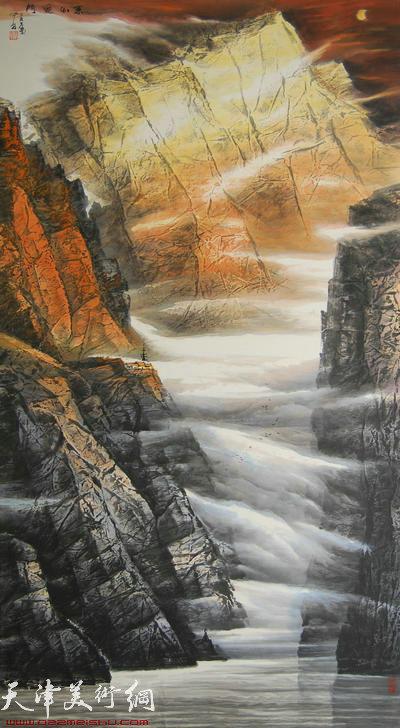 蜀山嘉陵画派创始人向中林作品:冬出夔门