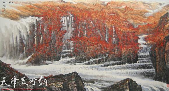 蜀山嘉陵画派创始人向中林作品:九寨金秋