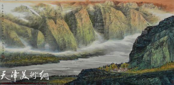 蜀山嘉陵画派创始人向中林作品:春风春雨花满眼