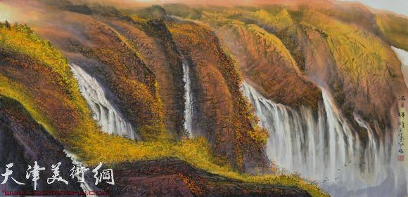 蜀山嘉陵画派创始人向中林作品:满目辉煌