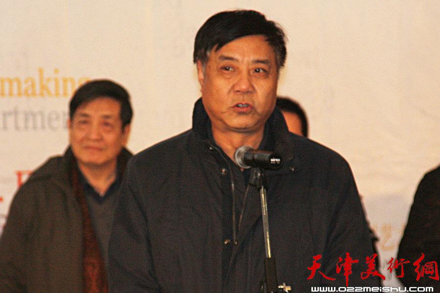 天津美术学院院长姜陆在开幕式上致辞。