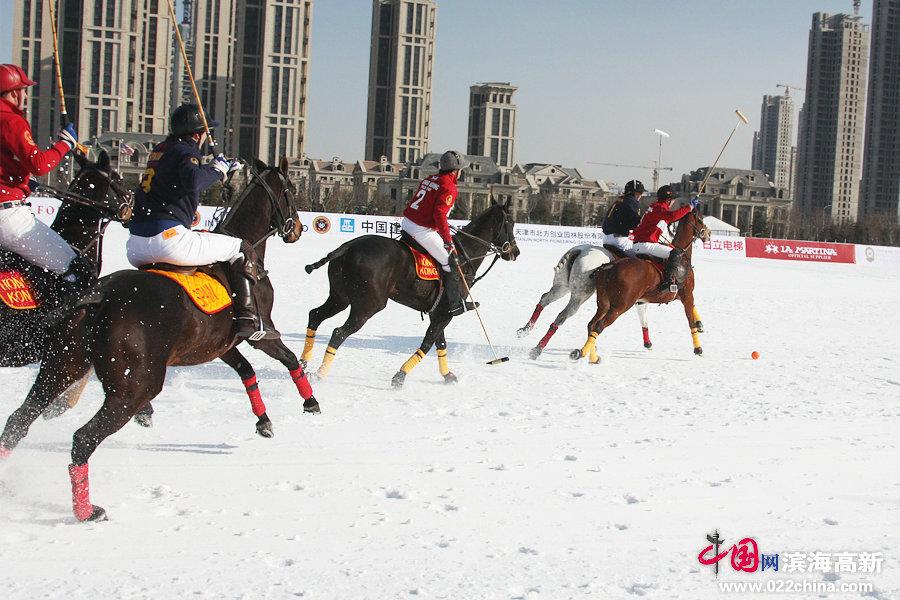 高清图:2014富国高银雪地马球世界杯在天津滨海高新区开赛