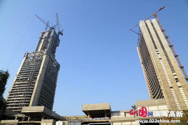 117大厦一天一个样 主塔楼突破223米