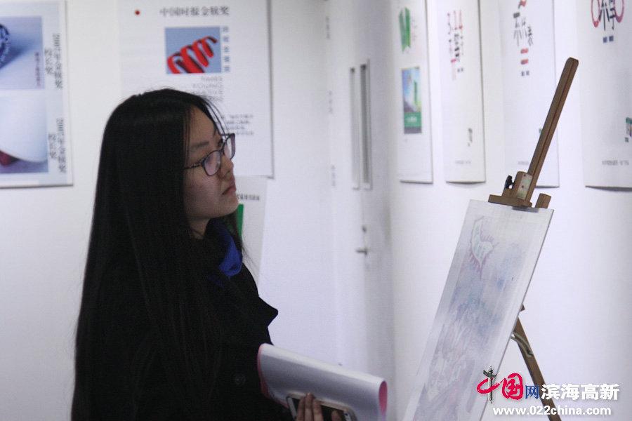"""""""大学生策划创意作品展""""在滨海高新区智慧山开展"""