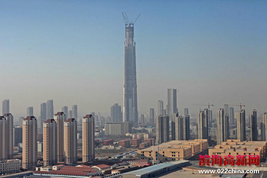 天津117大厦突破500米