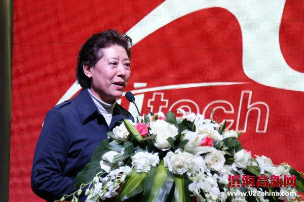 国家一级演员、著名歌唱家、天津市音乐家协会主席关牧村致辞。