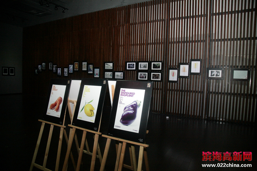 """""""创意启发未来""""第58届纽约国际广告节世界最佳作品展映活动在天津高新区滨海广告产业园举行,图为"""