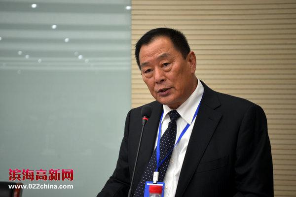 无限通用航空快运(天津)有限公司总经理、首任天津宁夏商会会长高树荣讲话。