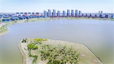 图为天津未来科技城渤龙湖周边景色宜人。